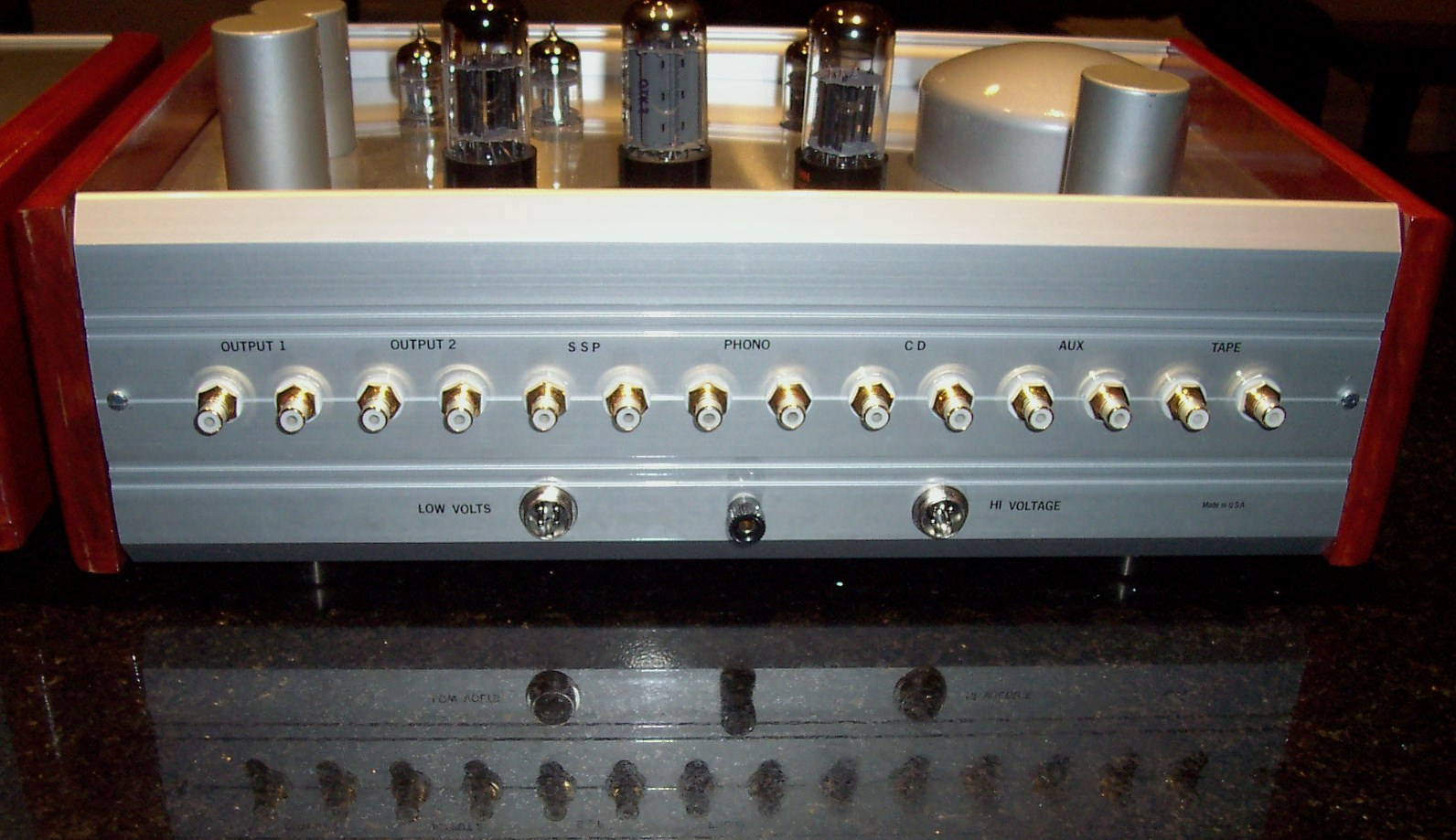 AMINA PR7 preamp rear panel.